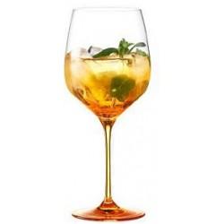 Spritz Veneziano Orange Kelch mit orangem Fuss / Calice Spritz 640ml / 505-1