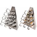 Dreieck-Display mit Gourmet-Löffeln und Spießchen Inox | Display triangolo inox