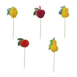 """Eisdekor Deko Picker """" Früchte """" 15cm - Decorazioni per gelato """" Fruits """""""