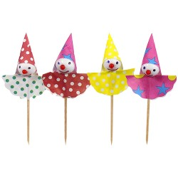 Eisdekor Deko Picker Clown 8cm - Stecchini per Party Pagliaccio
