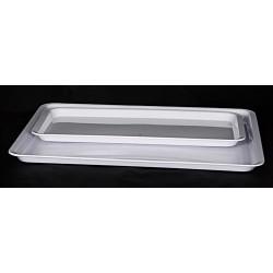 Tablett Melamin weiss40x30cm H-2cm Vassoio Melamina bianca 40x30cm A-2cm